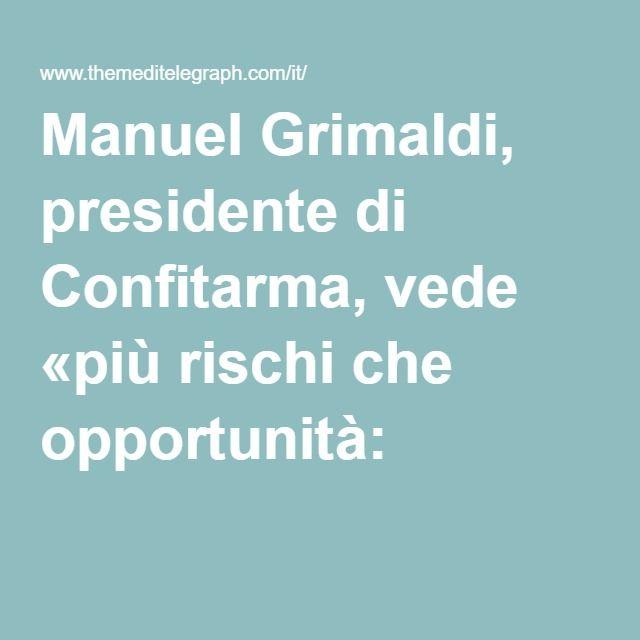 Manuel Grimaldi, presidente di Confitarma, vede «più rischi che opportunità: