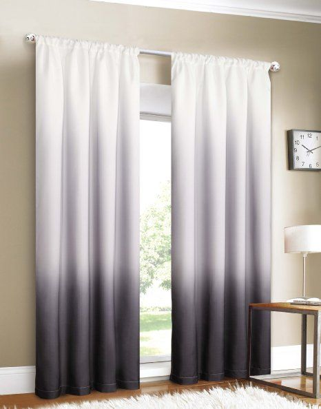 Amazon.com - Black Ombre Curtains $30 | For the Home | Pinterest