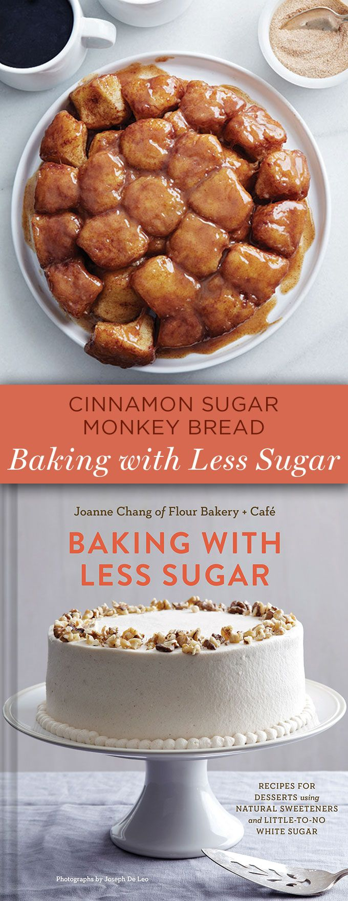 Cinnamon Sugar Monkey Bread- Baking with Less Sugar