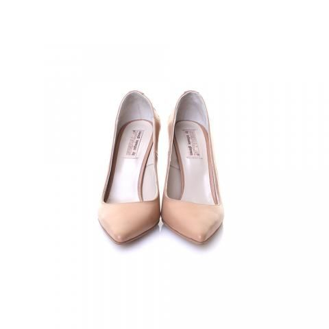 Pantofi stiletto piele bej/nude | The Boutique