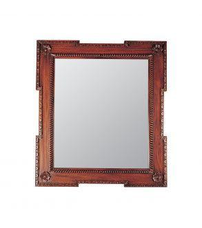 espelho com moldura de madeira entalhada. 100x90 cm
