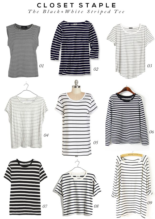 Closet Staple: The Black and White Striped Tee
