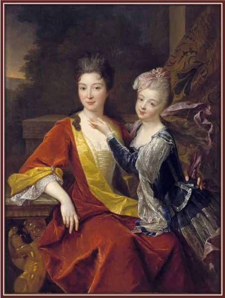 Jeanne-Françoise de Biaudos de Castéja. Madame de La Lande. Sous gouvernante des enfants de France. nommée par Louis XIV en 1704 et par Louis XV en 1727