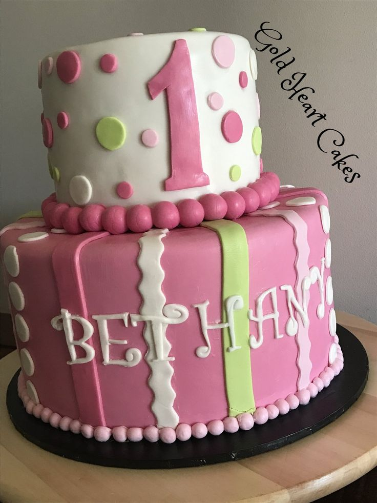Two Tier - 1st Birthday  http://goldheartcakes.website/fun-kids/2017/5/5/two-tier-1st-birthday