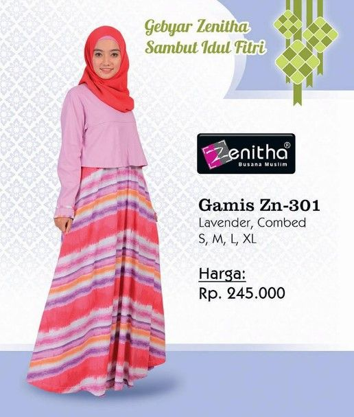 Gamis Zn 301 Lavender Combed