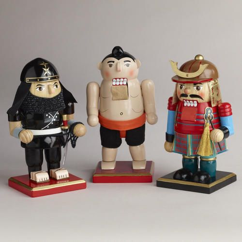 My son would love these...One of my favorite discoveries at WorldMarket.com: Asian Chubby Nutcrackers, Set of 3