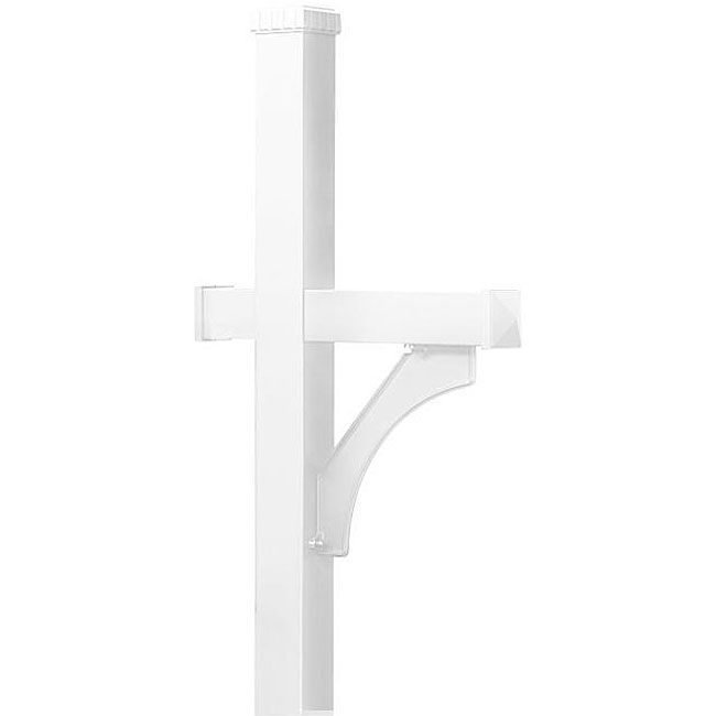 Salsbury In-ground Deluxe White Mailbox Post (Aluminum)