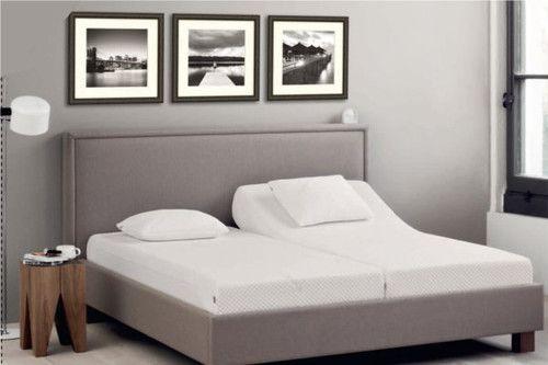 Łóżko Tempur Kantata II tapicerowane fabryka sypialni fabrykasypialni.pl warszawa łóżka tapicerowane skóra skórzane naturalne materiał materiałowe