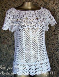 Топ крючком на лето от Renata Vieira » Ниткой - вязаные вещи для вашего дома, вязание крючком, вязание спицами, схемы вязания