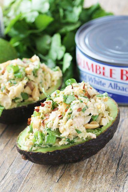 The Stay At Home Chef: Healthy Thai Tuna Stuffed Avocado