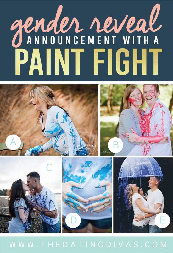 Gender Reveal Announcement with a Paint Fight
