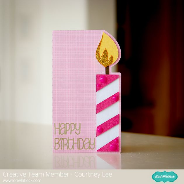 CANDLE SHAPED CARD by Lori Whitlock Design ID #170665