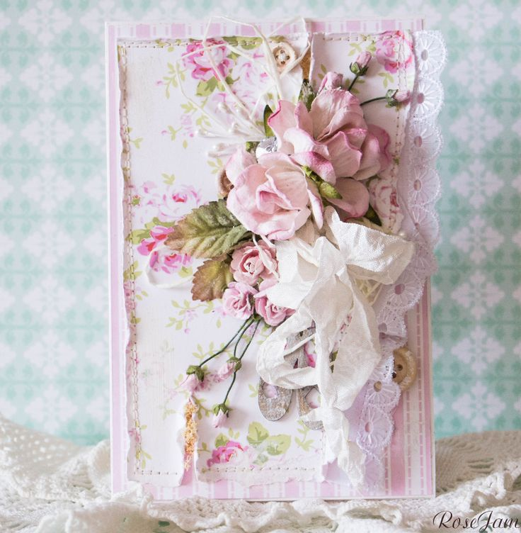 день рождение, card, France, birthday, 8 марта, весна, spring, Shabby chic, шебби шик, Trimcraft