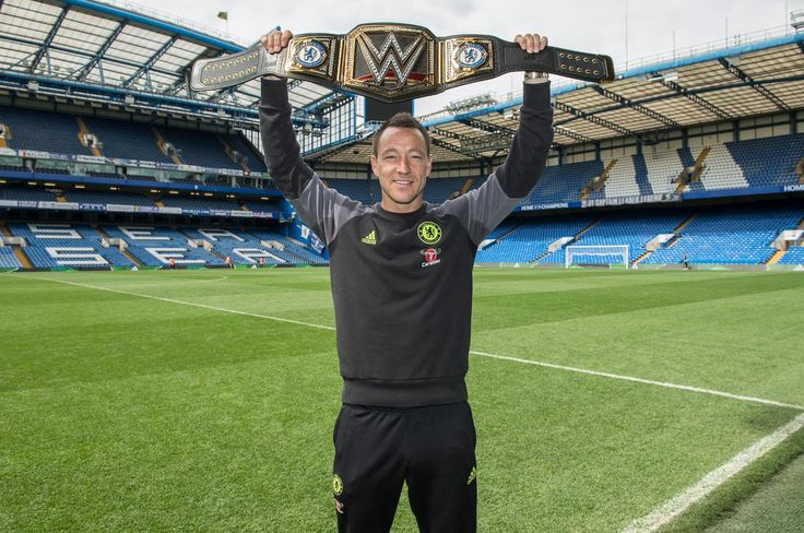 Chelsea captain John Terry has been presented with a customised WWE championship belt to celebrate the Blues' Premier League title triumph