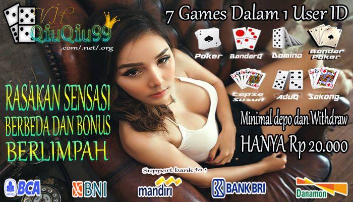 Hallo teman-teman pecinta judi online ,Vipqiuqiu99.com lagi mengadakan promo mungkin ada dari anda yang berminat untuk bermain di vipqiuqiu99.com 7 Game yang Kami sediakan dalam satu web : * BANDAR POKER, * PLAY DOMINO99, * PLAY BANDARQ, * PLAY...