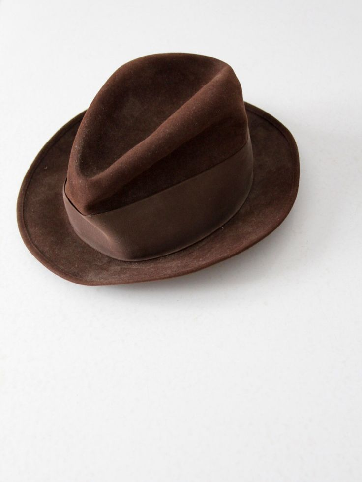 vintage 60s Stetson fedora, brown suede hat by 86Vintage86 on Etsy https://www.etsy.com/uk/listing/253595879/vintage-60s-stetson-fedora-brown-suede