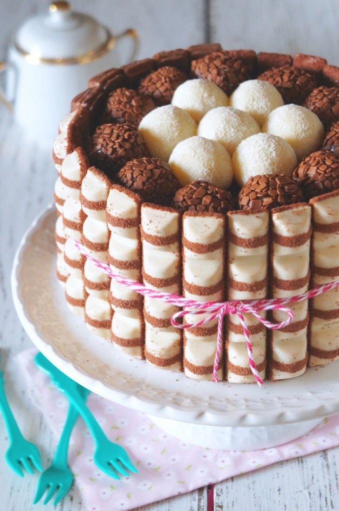 bolo kinder bueno, com brigadeiro de nutella e leite ninho