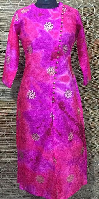 Colors so bright...Pink and Purple....merging into each other...here comes a design straight from our heart...is it a mirage or for real? Style - Straight Diago