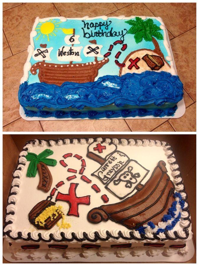 Pirate sheet cake idea