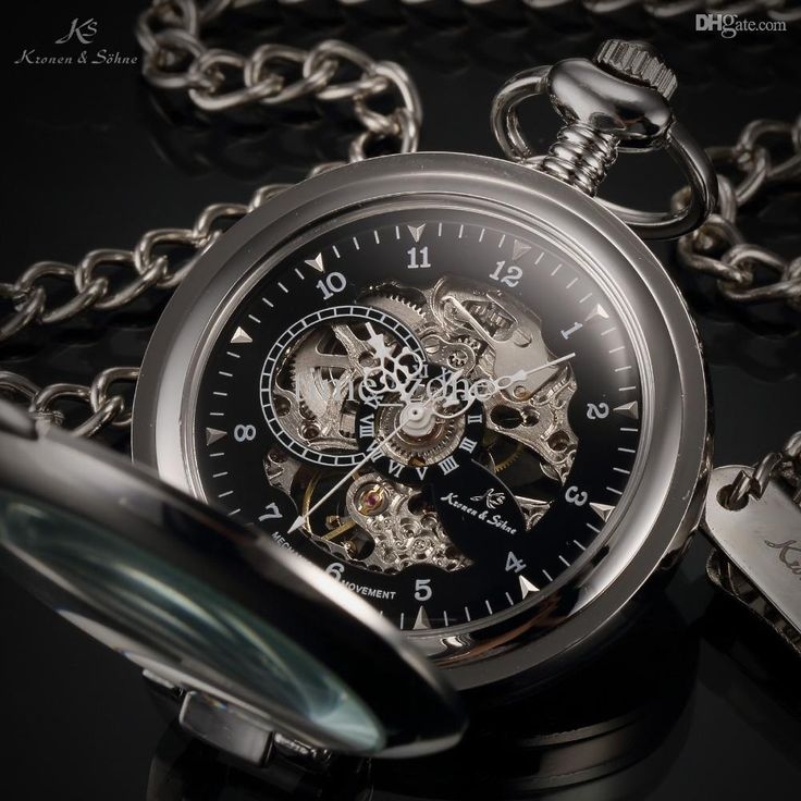 Ks Luxury Black Skeleton Self Stand Case Analog Hand Wind Mechanical Relogio Fob Pendant Chain Steampunk Men Pocket Watch/Ksp063 Swiss Mechanical Pocket Watch Old Pocket Watches From Time_zone, $113.2| Dhgate.Com