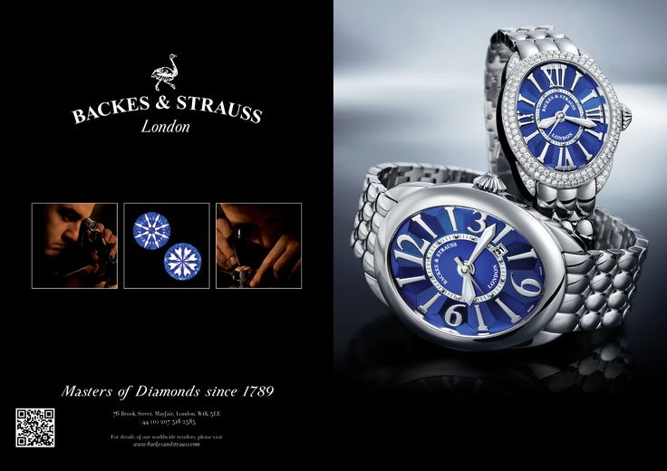 The Regent Steel blue dial duo advertising featured in Luxurious Magazine, Tempus magazine and several prestigious worldwide publications - For more information on the Regent steel blue dial duo - visit www.backesandstrauss.com