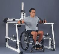 It allows people with C4-C5 and below quadriplegia (tetraplegia) due to spinal cord injury to do all the necessary upper body exercises necessary for rehabilitation and maintenance, without any assistance.  There does not seem to be a single facility anywhere close to me who has this.