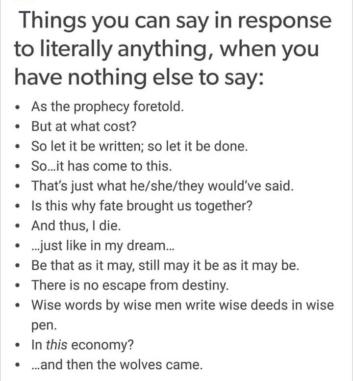 how to respond to anything for you