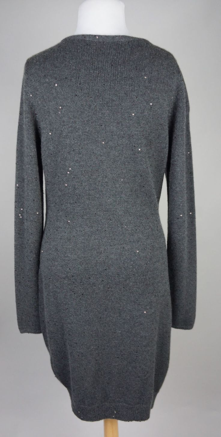 Women's Brunello Cucinelli Gray Sequins Asymmetrical Cashmere Sweater Size XXL in Clothing, Shoes & Accessories, Women's Clothing, Sweaters | eBay