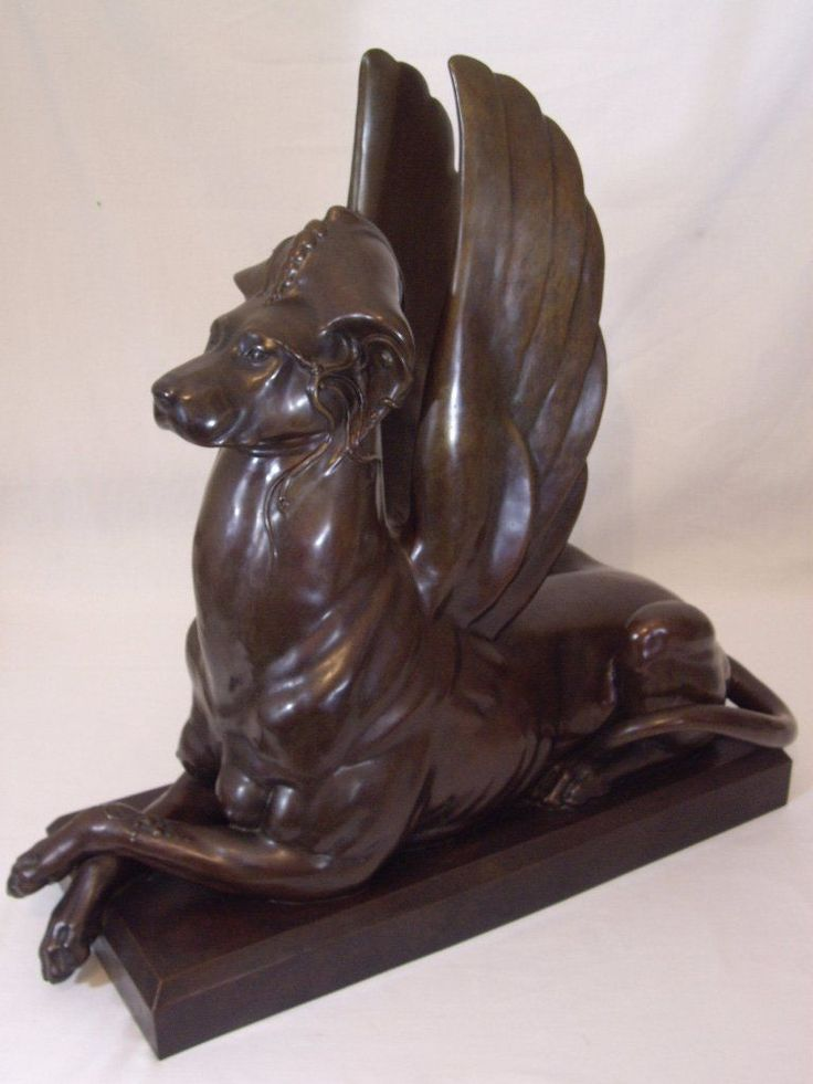 #tosimplyshop UNIQUE LIFE SIZE REAL BRONZE Statue Sculpture NUDE DOG  GARGOYLE SPHINX Garden #gardendecor