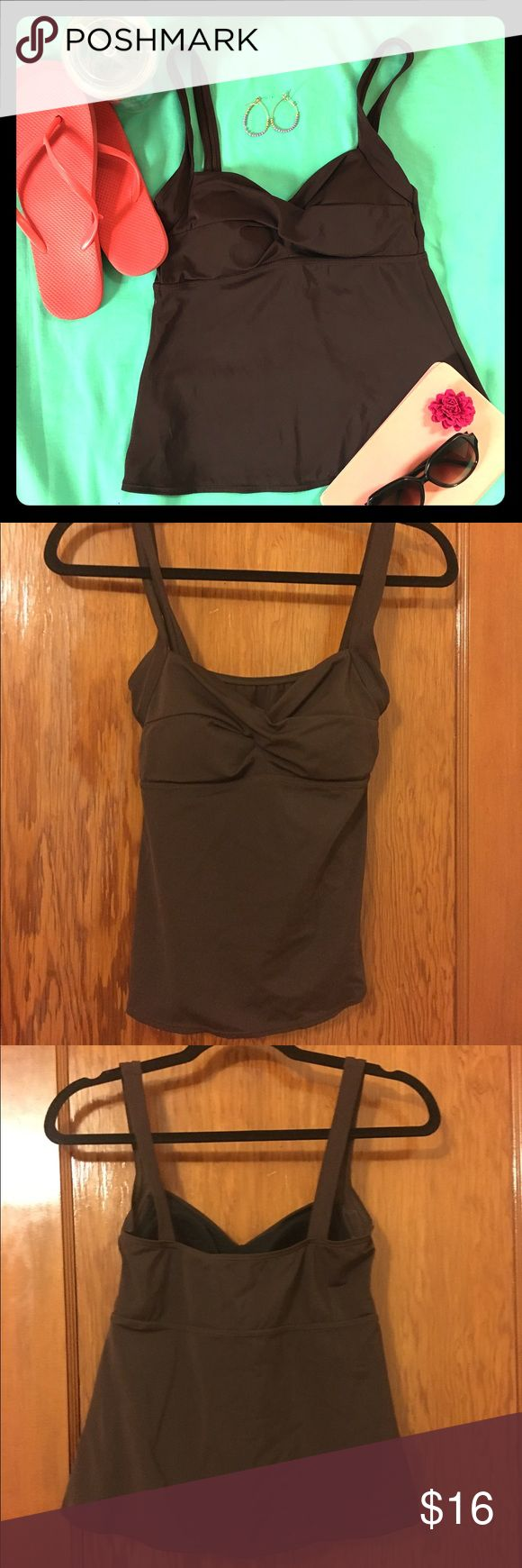 Cazimi Brown Tankini Top Size 6 This Cazimi Brown Tankini Top Size 6 is like new. It can be perfectly paired with any bottom. CAZIMI Swim