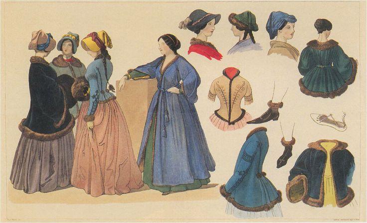 Studie kroje, Josef Mánes -série -zájem o národopis