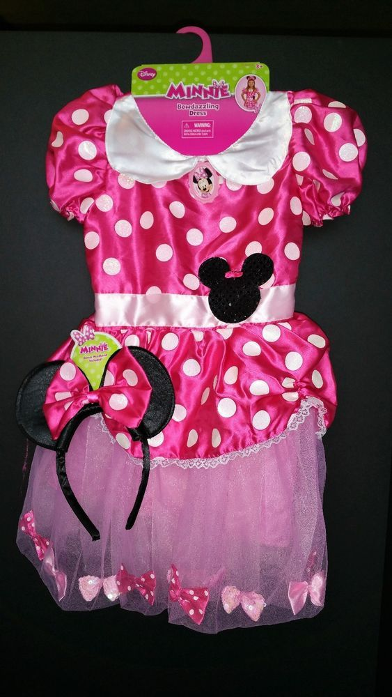 Disney Minnie Mouse Bowdazzling Dress Toddler Girl Halloween Costume 4-6X New #Disney #CompleteOutfit