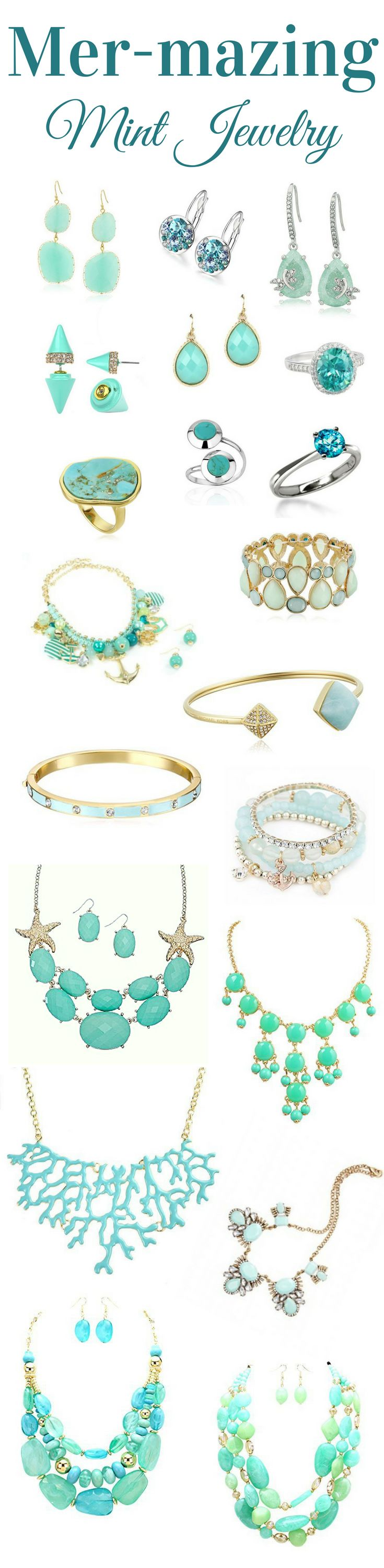 Mer-Mazing Mint Jewelry  Show off the mermaid in you