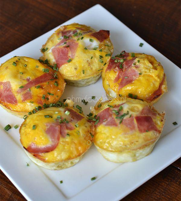 gemakkelijk te maken eimuffins met ham en kaas