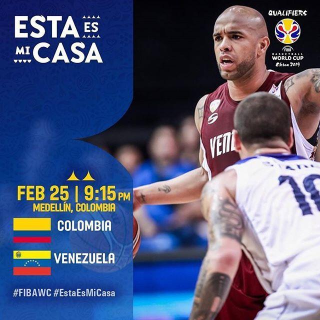 Hoy la #SelNac  juega ante @Fecolcesto  en el Coliseo Iván de Bedout. Esperamos a todos los venezolanos de Medellín apoyando en las gradas. : @DIRECTVSportsVE : 9:15 PM (Hora de Venezuela)  #JuntosSomosMas #FIBAWC #ThisIsMyHouse #EstaEsMicasa