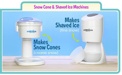 We offer a wide selection of home and commercial shaved ice & snow cone machines. Buy direct and save!