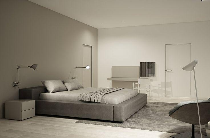 PULVA, minimalistic, interior design, minimal, modern, materials, home, homestyle, house, dom, light, details, texture, white, pure, bedroom