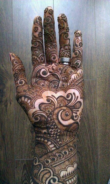 Inner hand mehndi designs