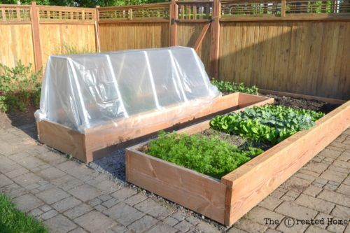 How to Build a Cheap Raised Garden Bed and Frost Cover