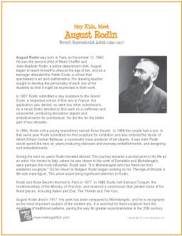 August Rodin | Printable Biography