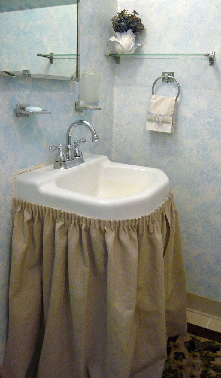 Bathroom sinks with options for everyone - Bathroom Sink Skirt To Enhance Elegant Look