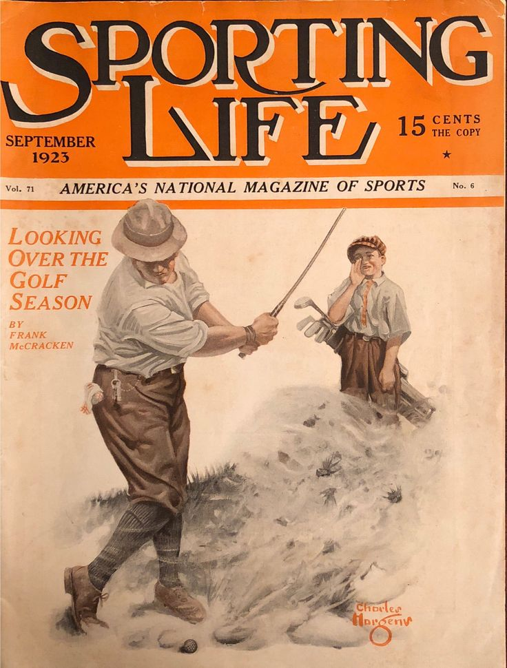 Sporting Life magazine Sep 1923 Golf Related Cover