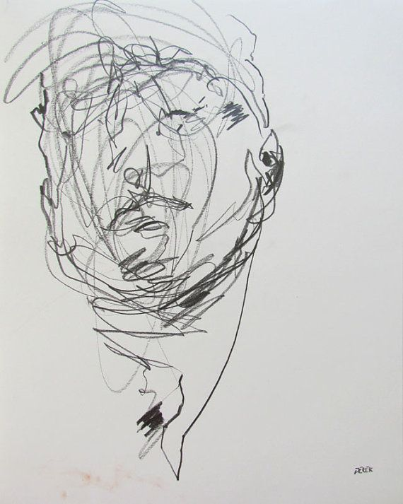 Derek Overfield, Again with the scribble, loose effect of the image is so effortless and really portrays character: Figure Drawing, Originals Drawings, Derek Overfield, Art Inspiration, Figures Drawings, Abstract Portraits, Drawings 70, Life Drawings, Portray Character