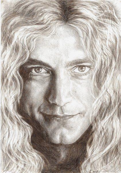 Robert Plant portrait by Folkana.deviantart.com on @deviantART