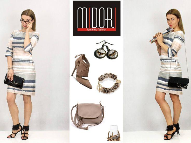 Piękne delikatne kolory i ciekawa tłoczona tkanina... to nasza sukienka Dora, efektowna i kobieca! https://sklep.midori.pl/produkt/sukienka-dora-pasy/