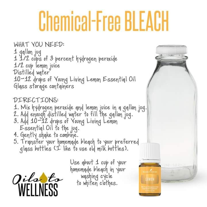 Chemical-Free Bleach using Young Living essential oils! Are you ready to live an…
