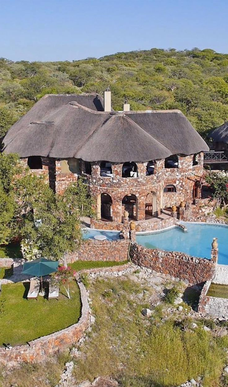 This unique safari lodge in Namibia hosts sixteen comfortable tents (eight Hemingway Safari Tents and eight larger Family Tents) in the hills, offers you unforgettable stay close to nature! Timbuktu Travel.