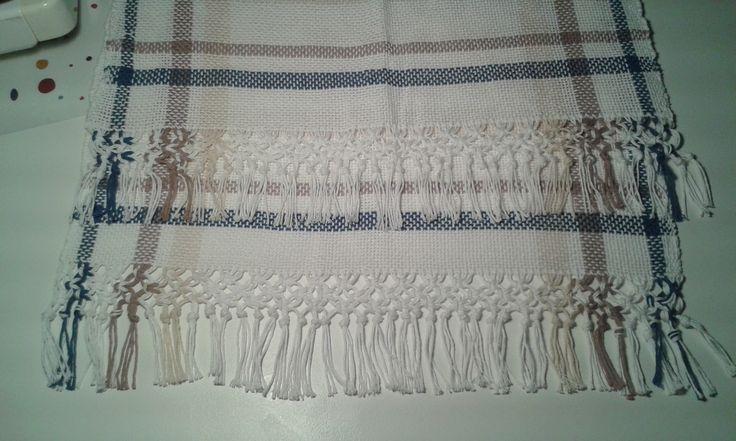 Camino de mesa de hilo de algodón, tejido en telar