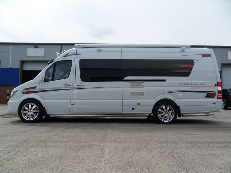 Mercedes sprinter motocross race van conversion mclaren for Mercedes benz van conversion