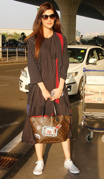 Kriti Sanon in a Doodlage outfit and Louis Vuitton bag
